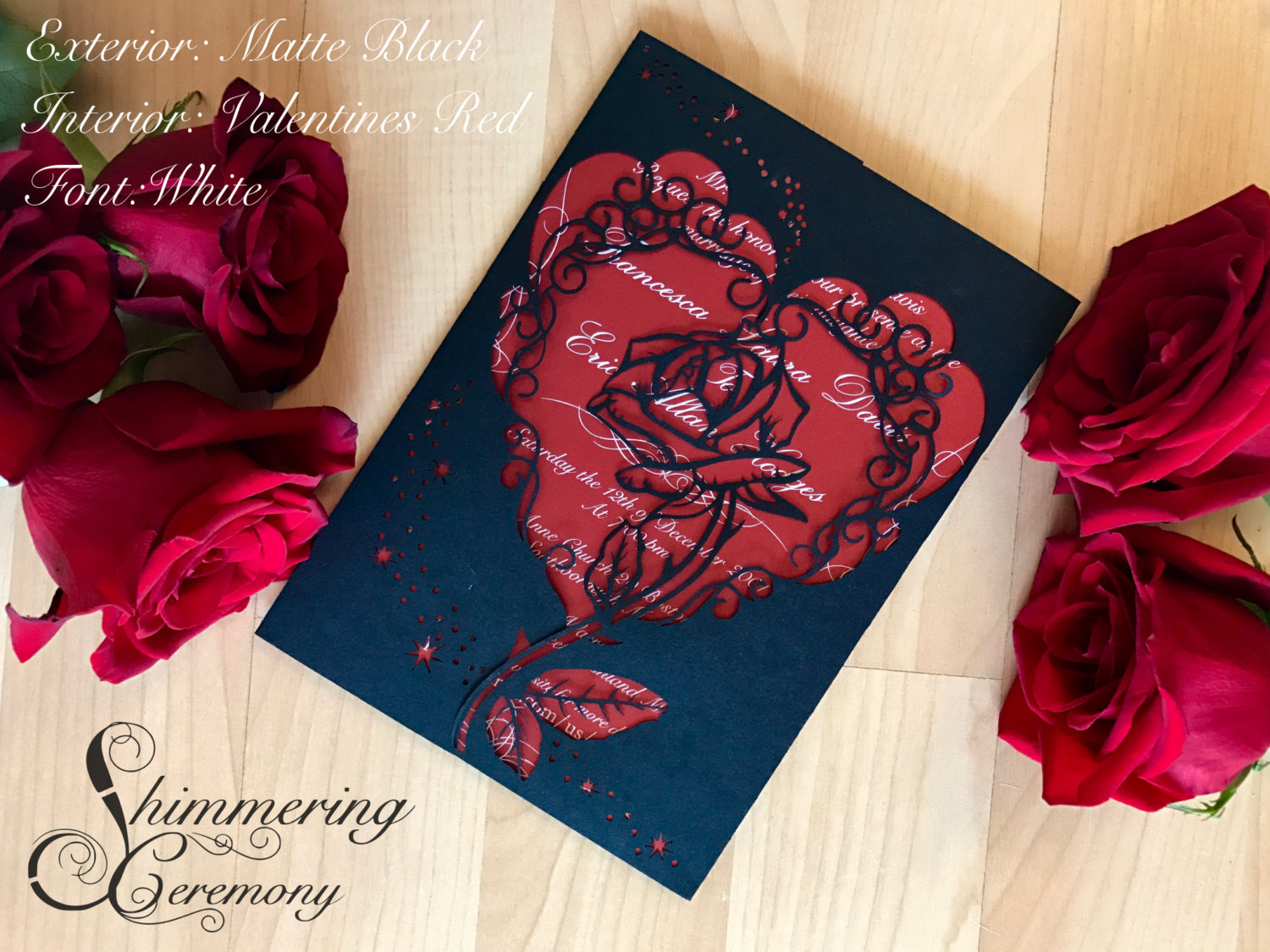 Beauty and the Beast Inspired Rose Gate Invitation | Shimmering Ceremony