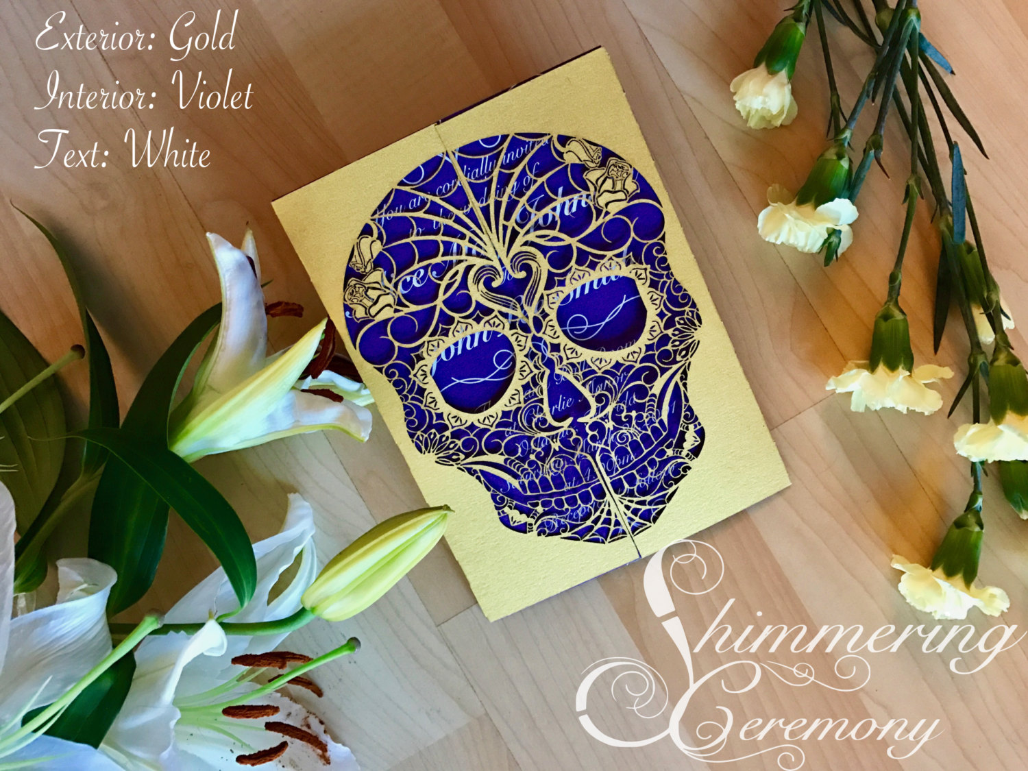 Day of the Dead Skull Gate Invitation | Shimmering Ceremony