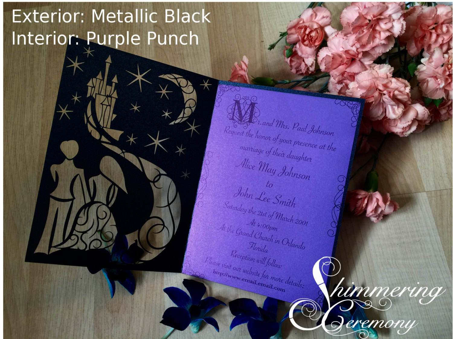 Fairytale Castle Laser Cut Invitation | Shimmering Ceremony