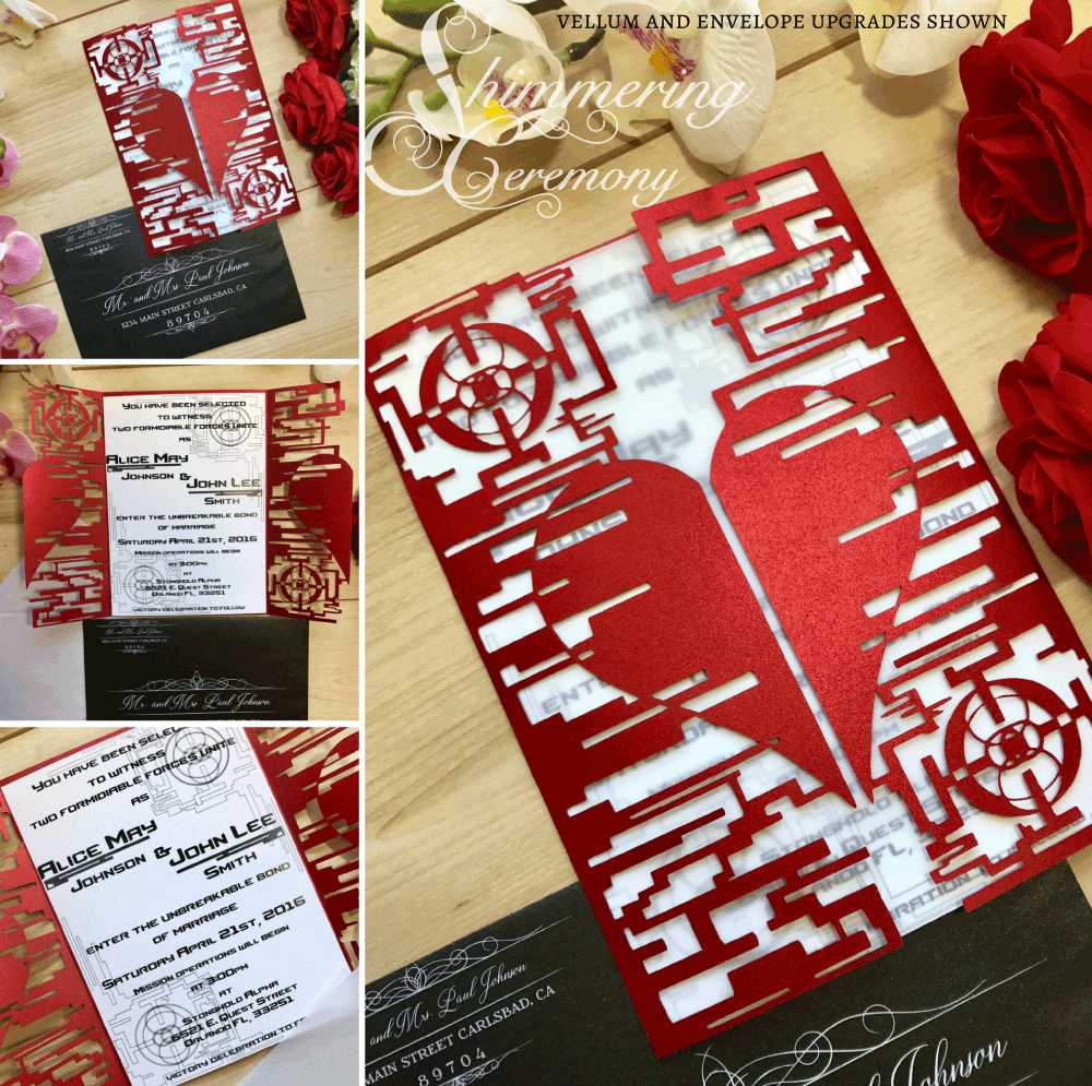Video Game Heart Gate Invitation Shimmering Ceremony
